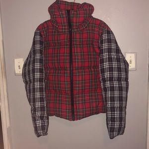 ASOS plaid oversized neck jacket NEVER WORN